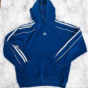 Adidas Blue Hoodie Medium Largs