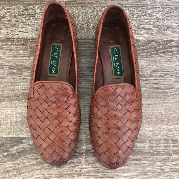 adee54907f0 Cole Haan Shoes - Cole Haan Vintage Braided Woven Leather Loafer 8.5