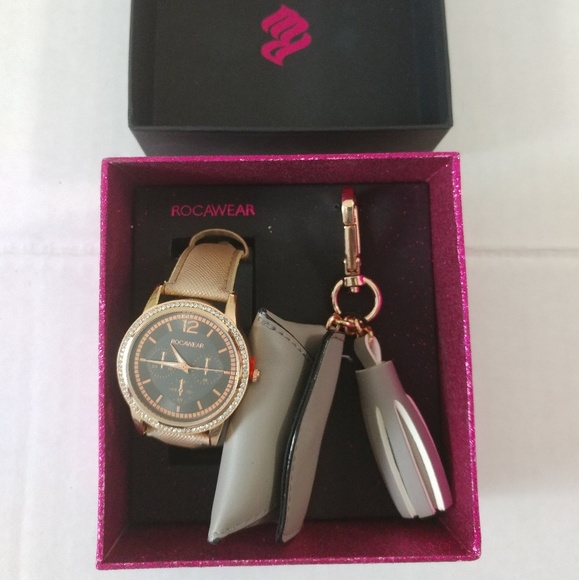 Rocawear Accessories Bling Watch Key Ring Set Poshmark