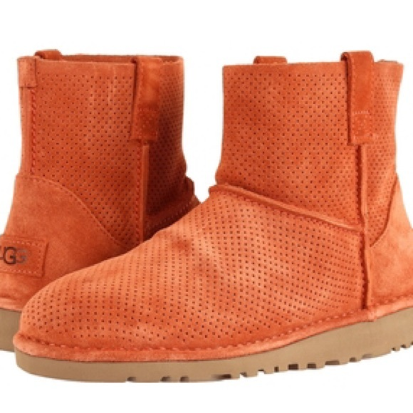 fede025e101 UGG Australia Unlined Perforated Boots NWT
