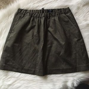 Madewell Black and Gold Skirt w Pockets - Sz L