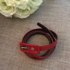 H & M • Red faux leather belt