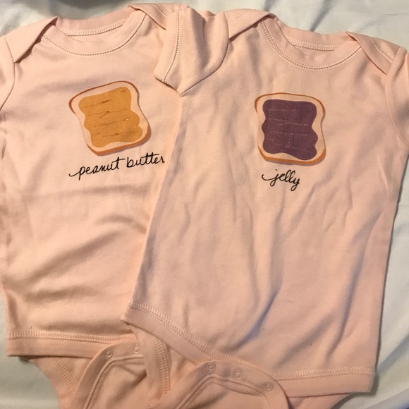 Other - Twin onesies Peanut Butter & Jelly