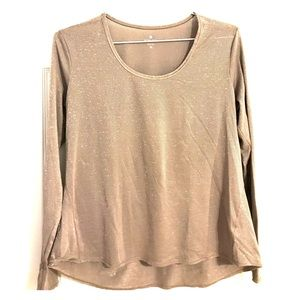 Athleta long sleeved top with shimmer