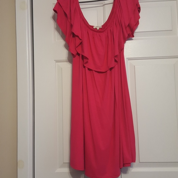 Sweet Pea Dresses Plus Size Off The Shoulder Fuschia Dress3x