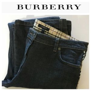 💸Burberry London Made in Italy plaid piping Jean