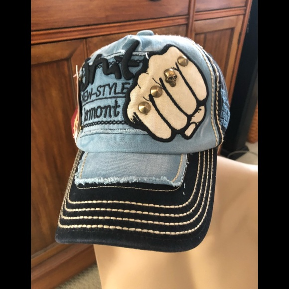 b49b35ec9bfa65 jamont Accessories | Designer New Black Blue Cap Hat | Poshmark