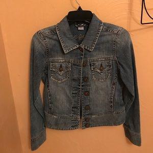 Silver Denim Jean Jacket Size S