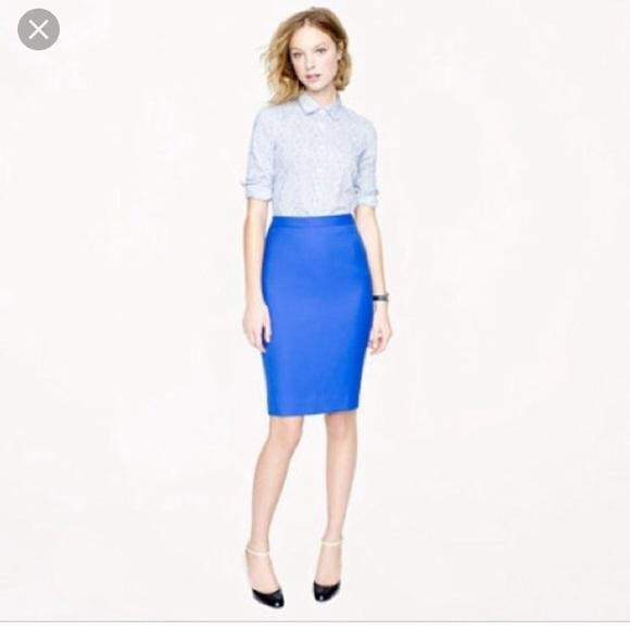 good looking choose clearance popular brand JCrew number 2 pencil skirt Cobalt
