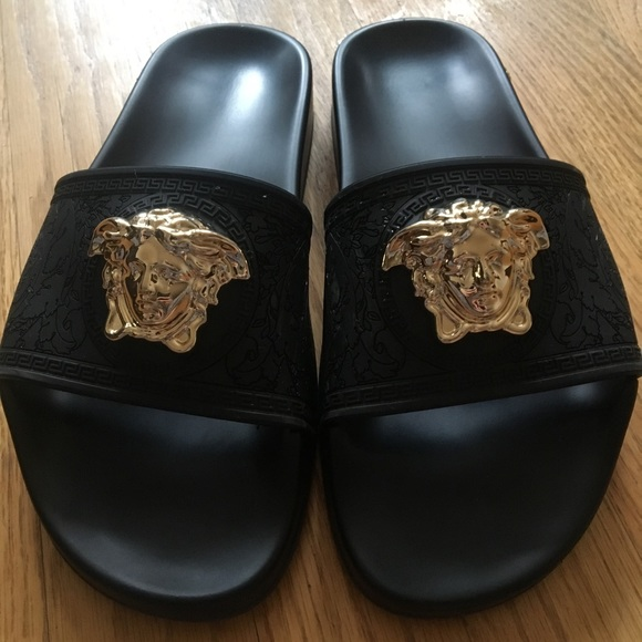 open heel slippers - Black Versace CghOJa