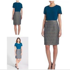 Boss Hugo Boss Divenice Tweed Combo Skirt Dress