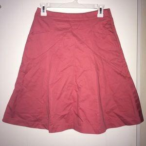 Express pink a-line skirt, size 0