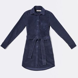 Dresses & Skirts - Blue Corduroy Shirt Dress