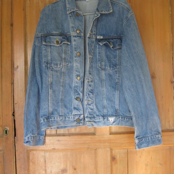 Guess Jackets Coats Vintage Denim Jean Jacket Men L Poshmark