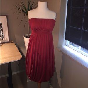 Banana Republic Red Silk Dress - 6