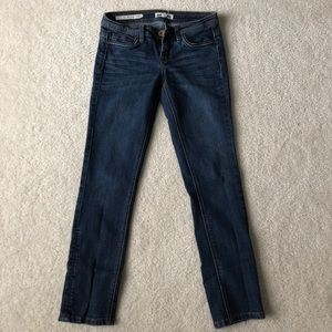 Low wasted blue jeans