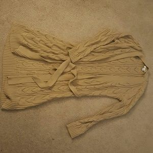 Long Cable-Knit Sweater, Talbots