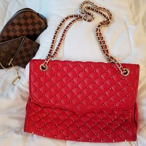 Rebecca Minkoff Quilted Lipstick Red flap bag