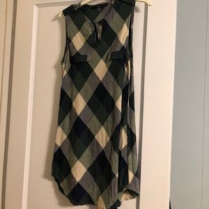 ModCloth green plaid tunic