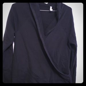 Fabletics hooded faux wrap sweatshirt