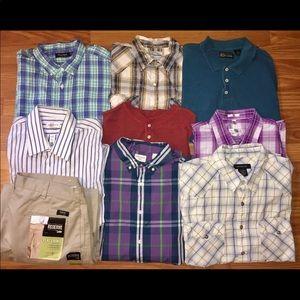 Bundle Men's Shirts Pants XL Dockers Nautica More!