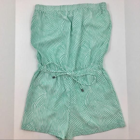 c48a0399977 Splendid Turquoise Stripe Strapless Romper. M 59fe322b522b459ba109deeb