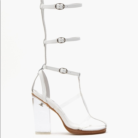 bb2a7dbbdf4 Jeffrey Campbell Shoes | Whitelucite Gladiator Heel | Poshmark