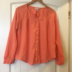 Joie Peach Buttondown