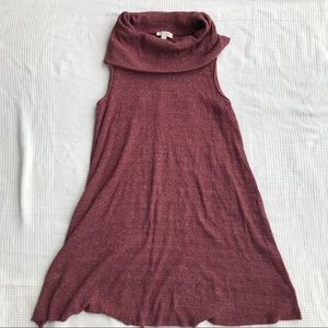 Turtleneck Sleeveless Sweater Dress