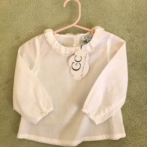 Lacy White Toddler C de C Blouse NWT