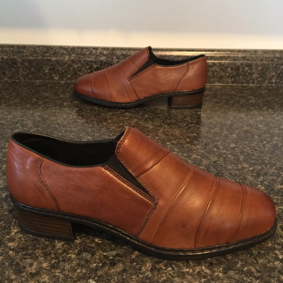 RIEKER Antistress Leather Chestnut Brown Loafers