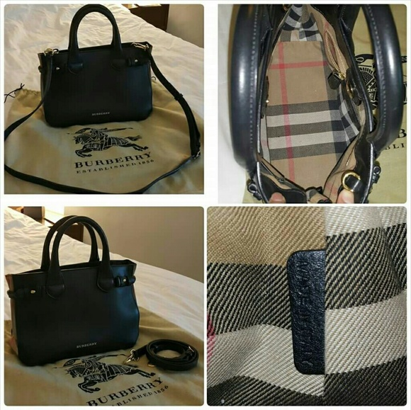 Burberry Handbags - authentic burberry The Banner bag df008c41d5209
