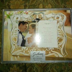 Gorham sentimental tradition Crystalwedding frame