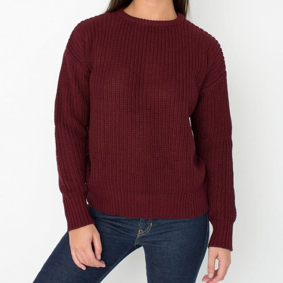 62% off American Apparel Sweaters - America Apparel Maroon ...
