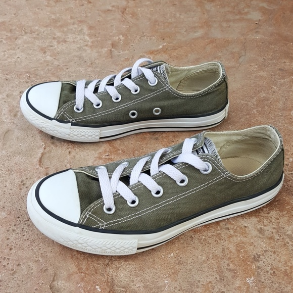 25b676f7962314 Converse Other - Converse All Star Olive Green Sneakers Boy Girl 1