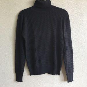 Neiman Marcus Turtle Neck Black Sweater