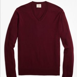 Merino Wool V- Neck sweater by Brooks Brothers