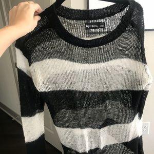 Tops - Sheer striped top