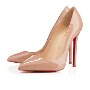 Pigalle 120mm Louboutin Nude Patent Leather