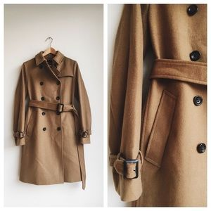 Uniqlo Wool Cashmere Blend Trench Coat, Medium