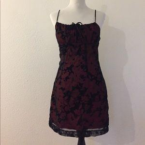 Vintage goth 90s dress with velvet details