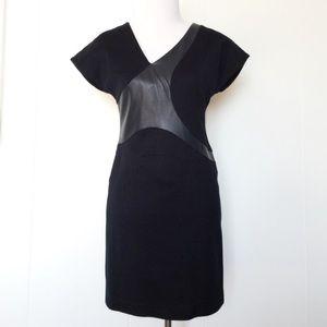 BOSS Hugo Boss Black Sheath Dress with Leather