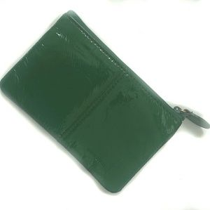 [Vintage] Shiny Leather Green Coin Purse Keychain