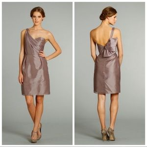 Taffeta One-Shoulder Dress