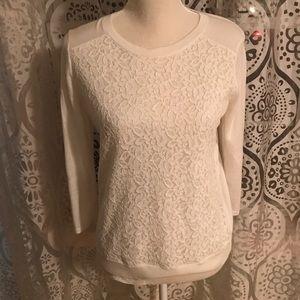 EUC lace panel sweater