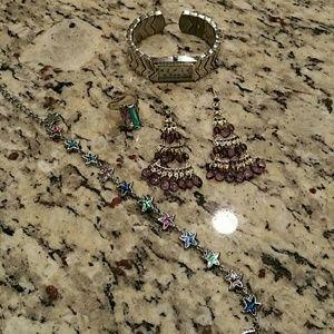 Jewelry - Bundle of jewelry with watch bracelet