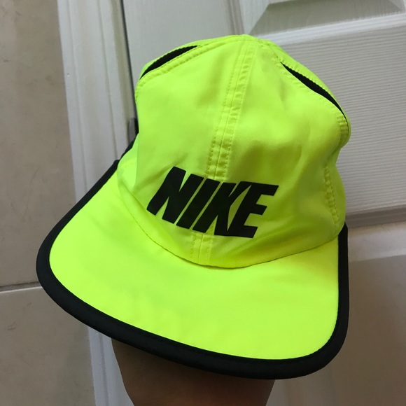 Adjustable Nike Logo Running Hat In Neon  5acd4898e66
