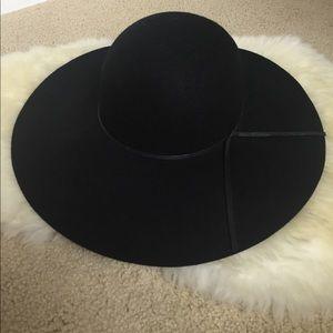 NWT Nordstrom BP floppy wool fall/winter black hat