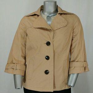 Merona Tan Cotton Lined Button Jacket, XXL