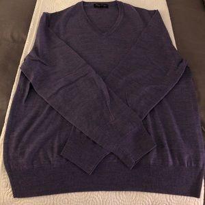 Lavender Brooks Brothers Merino Wool vneck sweater